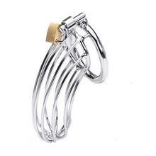 Qise Stainless Steel Chastity Belt Male Chastity Cage 5cm Diameter Cock Cage Virginity Lock for Men