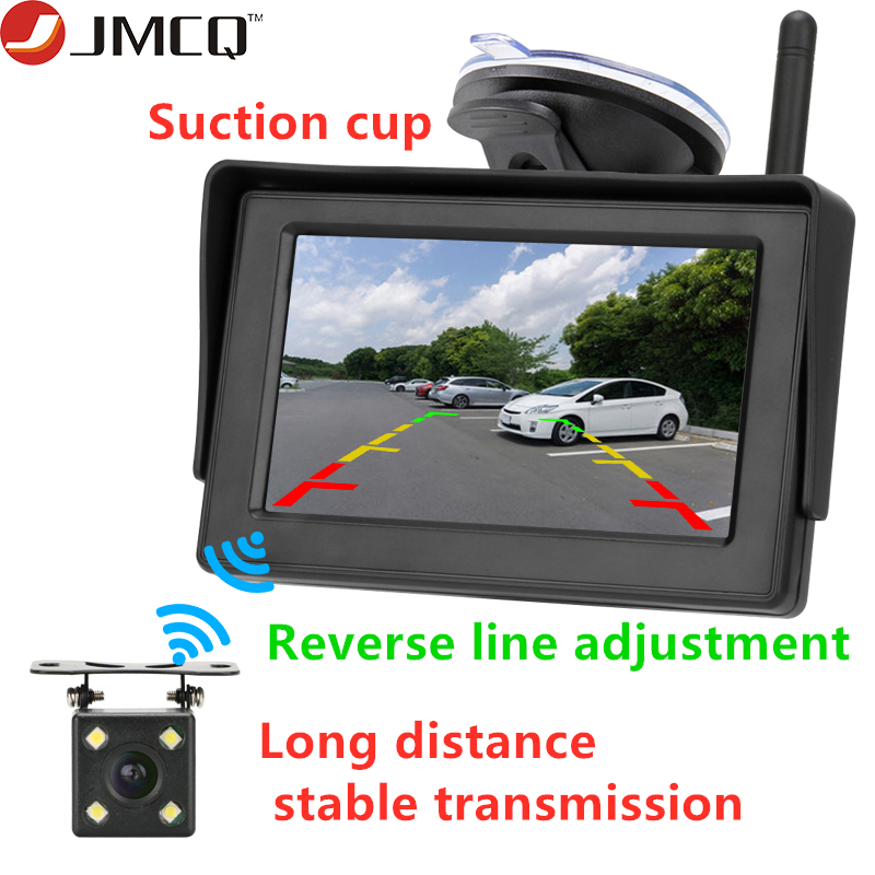 """Car Auto Reverse Parking Rearview Mirror 4.3/"""" Color Digital LCD Display Monitor"""