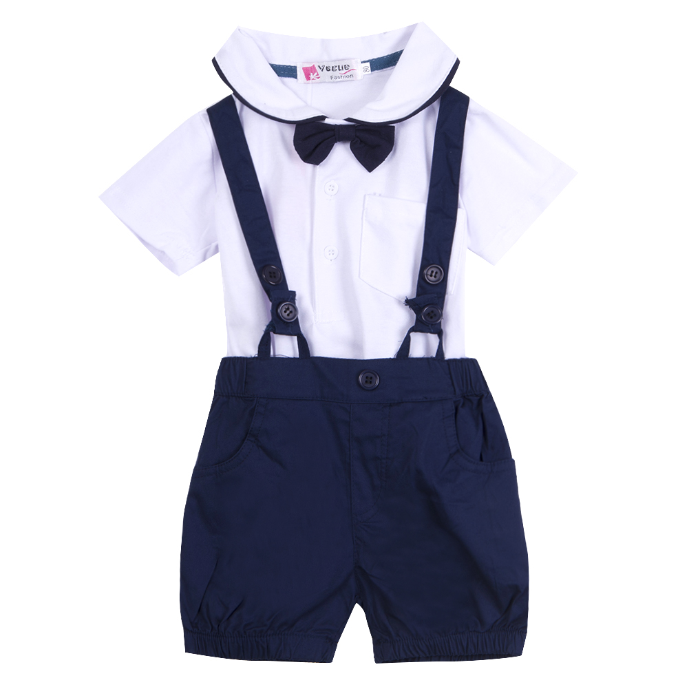 Fashion kid baby toddler infant boys gentleman short for Baby shirt and bow tie