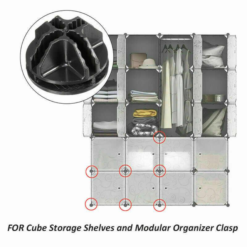 5 Pcs ABS Conectores para Cubo De Arame Prateleiras e Modular Armário Organizador Do Armário De Armazenamento Caixa de Fecho de Fivela Clipe Cesta Organizador