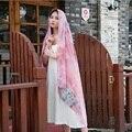 Color de la mezcla Mujeres Otoño Invierno Imprimir Borlas de Flores Mandala Ética de Pashmina Bufandas Chales de Cabeza de Algodón Abrigo de La Bufanda Del Hijab Musulmán