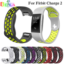 Watch Band for Fitbit Charge 2 Sport Silicone wrist Strap For Bracelet Smart Wristband Accessories