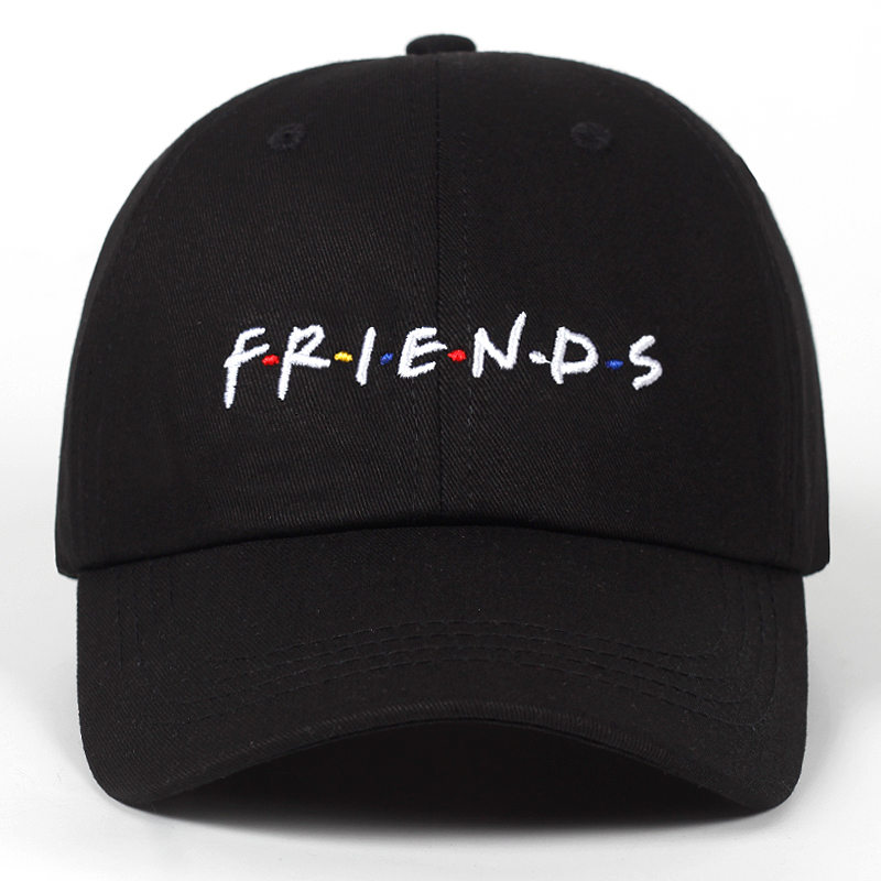 High Quality Men Women FRIENDS Dad Hat Baseball Cap Cotton Style Unconstructed Fashion Unisex Dad Cap Hats Bone Garros