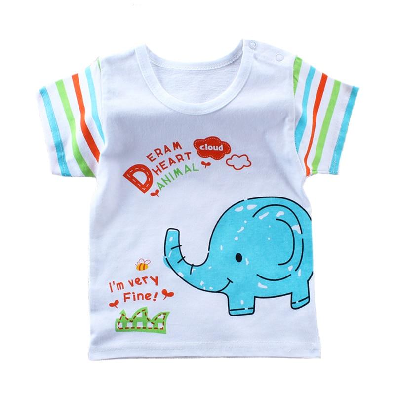 Summer Cartoon Baby T-Shirts Short Sleeve Kids Boys Girls T Shirt Baby Clothing Tops Tshirt Roupas Infantis Menino