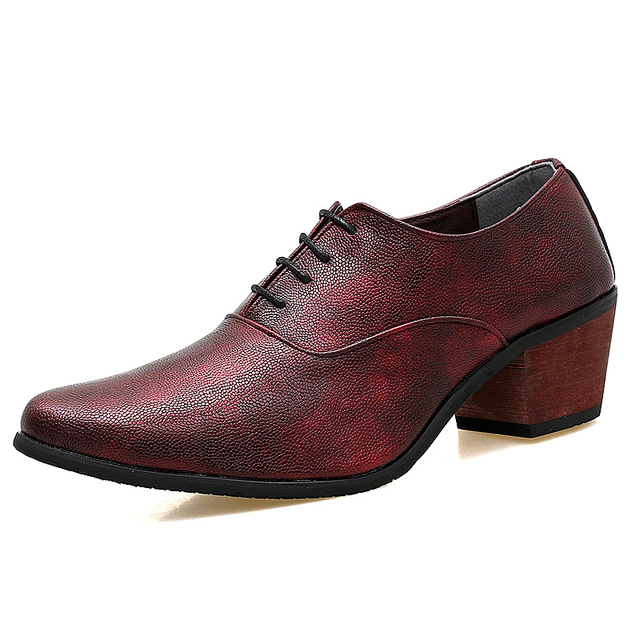 e161c9b6e gentleman heighten leather shoes retro pure man s oxfords dress shoes  pointed toe high heel wedding shoes boys dance party shoes