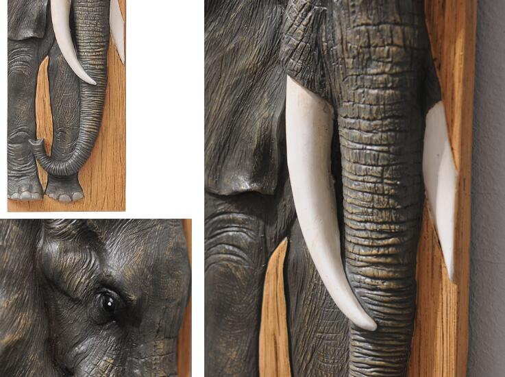 Wall decoration 3D Animal Painting Eagle Elephant Deer Bull Mural Resin 4