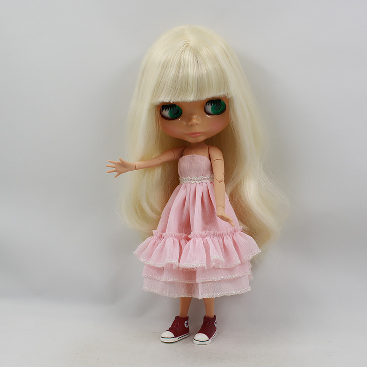 1 6 bjd blyth doll icy 230BL340 with bangs fringes big breast Joint body tan skin