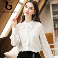 FINEWORDS Elegant Blouse White Shirt Women Office Ladies Shirts Long Sleeves Formal Casual Blouses Harajuku Sweet Shirt blusas