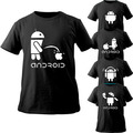 Android T Shirt Creative Men And Women Funny T-shirt Nifty Cool New Original Design Short Tee hipster Style Men Casual Clothes