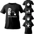 Android camisa de homens e mulheres engraçado t-shirt Nifty fresco novo estilo curto T moderno homens roupas