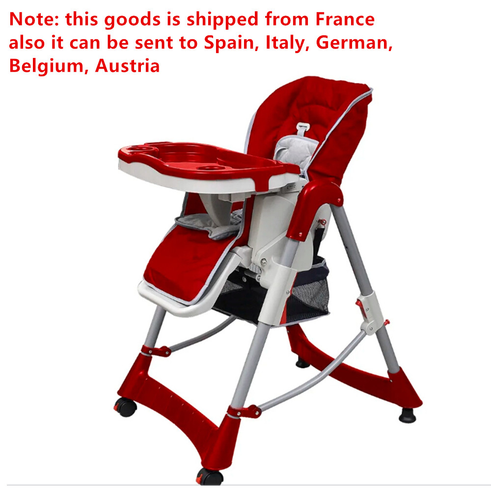High Quality Chair 5-Point Safety Belt Removable Tray Booster Children Seats Easy-To-Clean Highchairs With Storage Basket 2019
