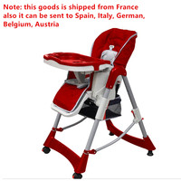 High Quality Chair 5 Point Safety Belt Removable Tray Booster Children Seats Easy To Clean Highchairs with Storage Basket 2019