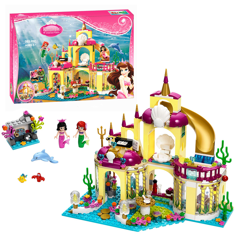 BELA 10436 JG306 Girls Friend Toys Princess Undersea Palace Girl Friends Building Blocks Bricks Toys for Children Birthday Gift new bela friends series girls princess jasmine exotic palacepanorama minifigures building blocks girl toys