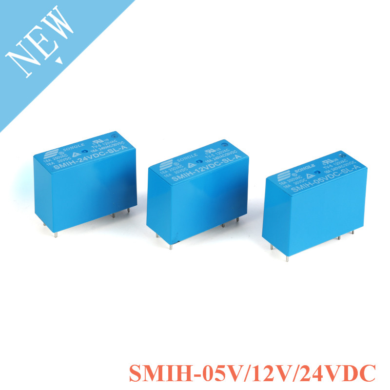 2PCS SMIH-05VDC-SL-C SMIH-12VDC-SL-C SMIH-24VDC-SL-C 05 <font><b>12</b></font> 24 V Relays <font><b>250V</b></font> <font><b>16A</b></font> 6PIN A group of normally open image