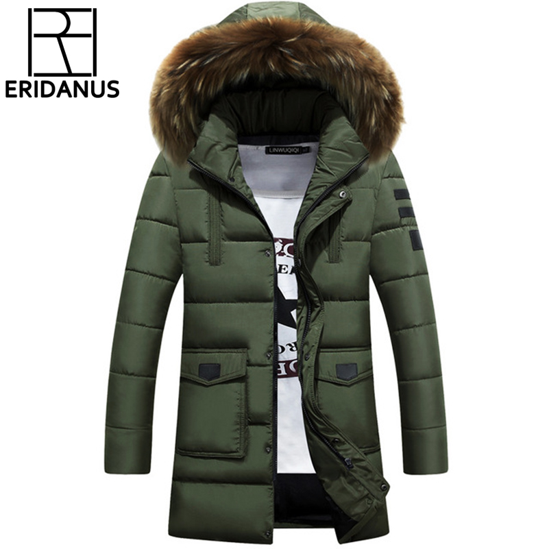 de13f546f28 2017 Parka Men Cotton Thick Cotton font b Jacket b font New Long Winter  Parkas Warm