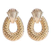 Boho Pineapple Fruit Earrings Female ZA Bijoux Rock Punk Gold Color Drop Statement Dangle Luxury Women Wedding  Hangers Jewelry