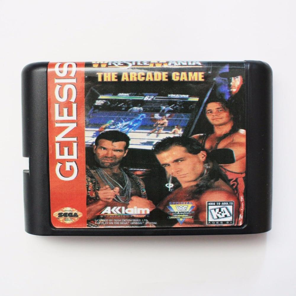 Wrestle Mania The Arcade Game 16 bit SEGA MD Game Card For Sega Mega Drive For Genesis