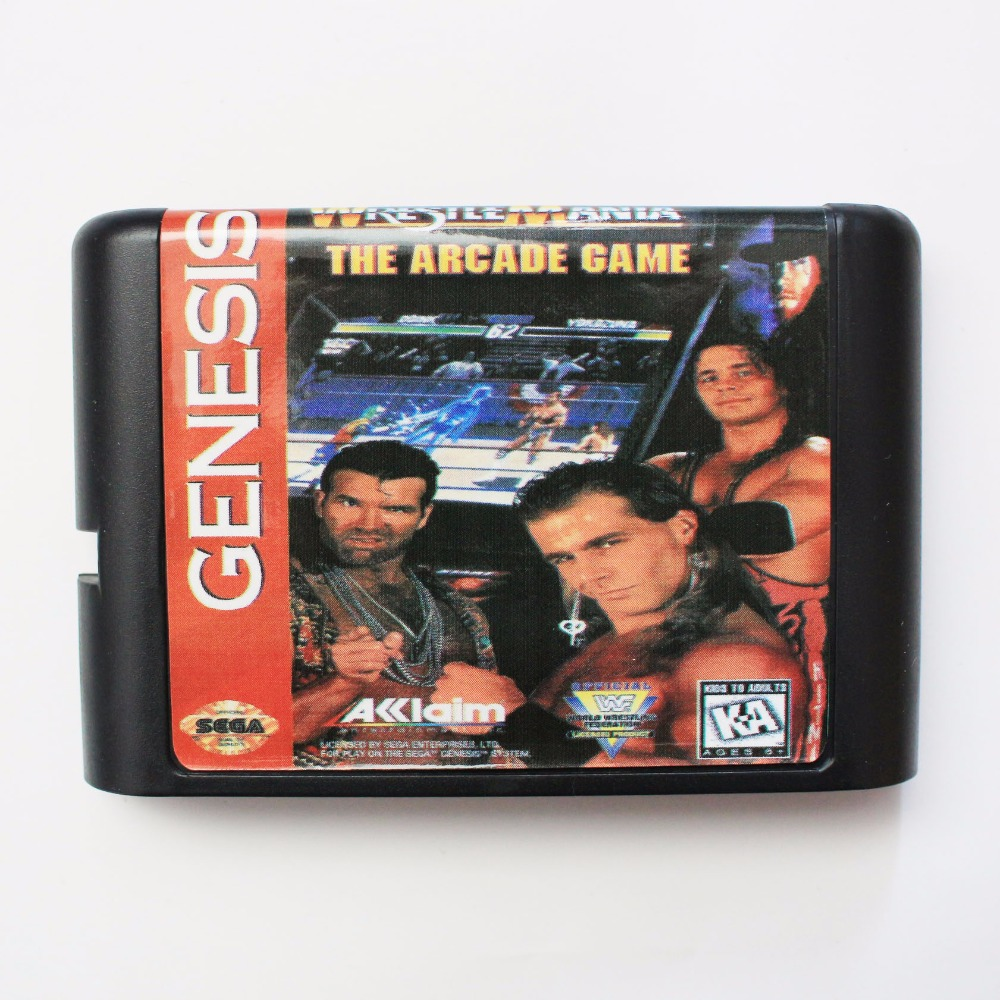 Wrestle Mania The Arcade Game 16 bit SEGA MD Game Card For Sega Mega Drive For Genesis image