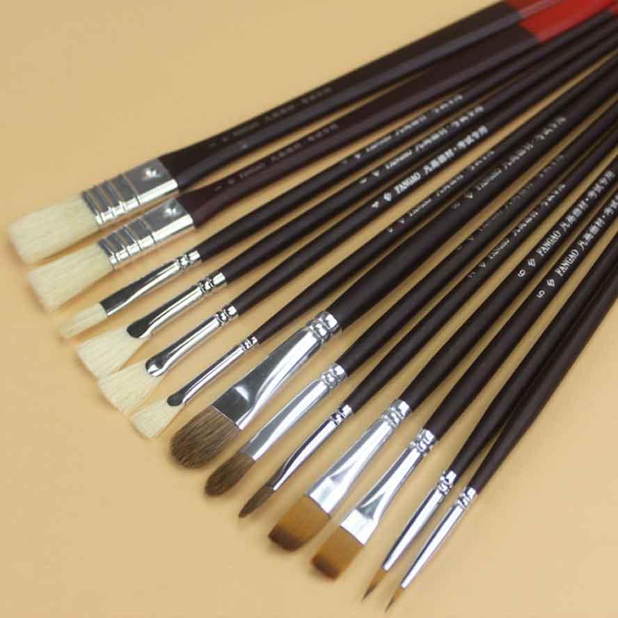 13pcs/pack bristles Paint brush watercolor acrylic painting brush peak row brush Set Gouache Painting Brushes Art Supplies snow peak pack