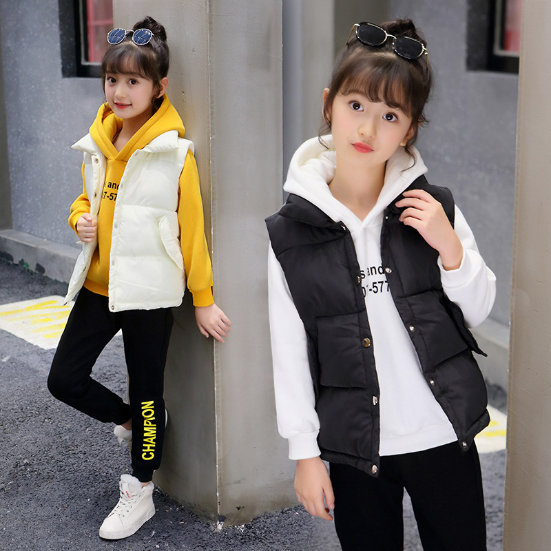 3 Pcs Teen Tracksuit Girls Clothing Set 2018 Fall Winter Children Vest+Hoodies+Pants Thanksgiving Outfits Kids Clothes 10 years wool teen kids clothing set autumn winter children clothing set sleeveless dress cape coats 2 pcs clothes suits girl outfits
