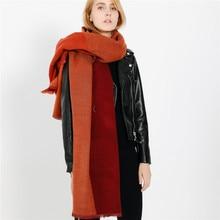 2018 Luxury Brand Scarf Women's Pashmina Cashmere Scarf Wrap Shawl Winter Scarfs Ladies Scarves Fringe Long Blanket Cachecol