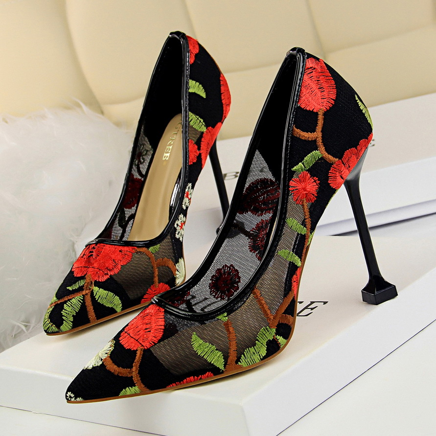 2019 Spring Summer Women Heels Breathable Mesh High Heels Shoes Women Wedding Party Chaussures Femme Pumps Ladies 17175-12019 Spring Summer Women Heels Breathable Mesh High Heels Shoes Women Wedding Party Chaussures Femme Pumps Ladies 17175-1