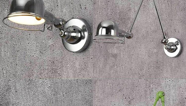 Rh loft jielde vintage ajustável retro e14
