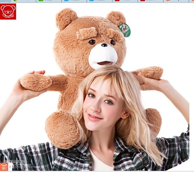 60cm Teddy bear plush toy ted bear doll gift w4870 new creative plush teddy bear doll lovely plaid suit ted bear toy gift about 60cm