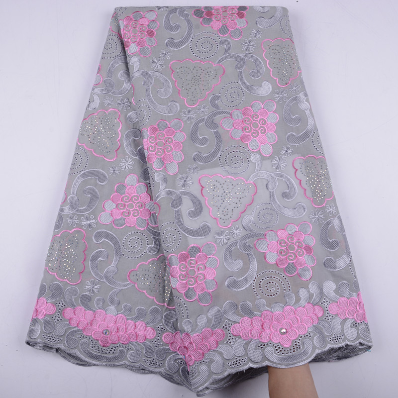 100 Cotton Voile Lace Swiss Lace High Quality Swiss Voile Laces in Switzerland With Stones For
