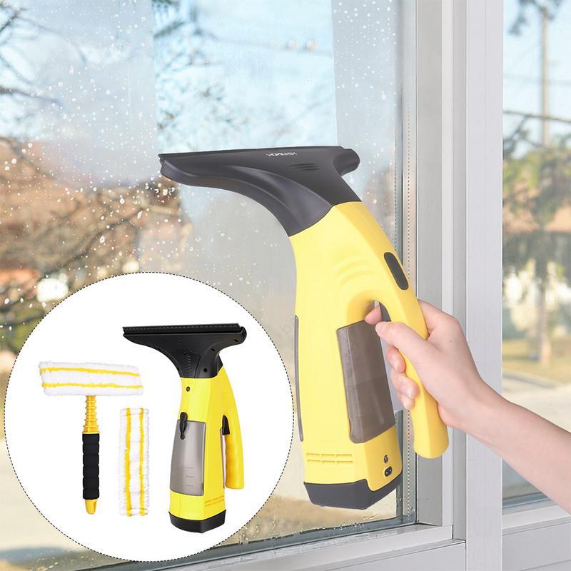 Aspirateur sans fil portable sans fil Rechargeable nettoyeur de verre automatique multi-fonction Kit de nettoyage de fenêtre à la maison avec chargeur