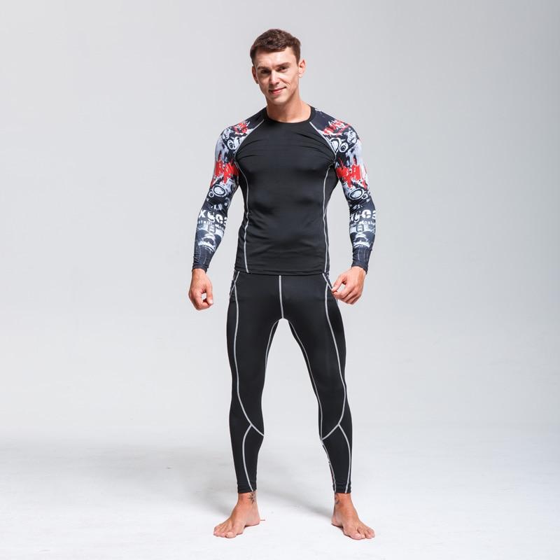 Ski Thermal Underwear Set>>Men Sportswear>>Fitness Training Quick-drying Clothing>>Compressed Warm