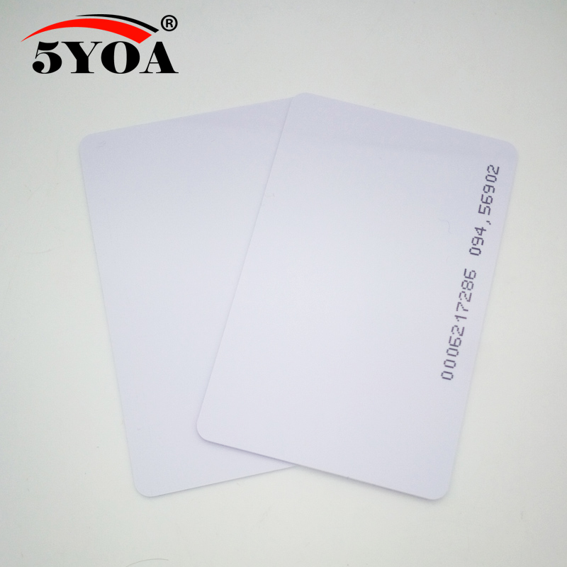 Image 3 - 100pcs Quality Assurance EM ID CARD 4100/4102 reaction ID card 125KHZ RFID Card fit for Access Control Time AttendanceAccess Control Cards   -