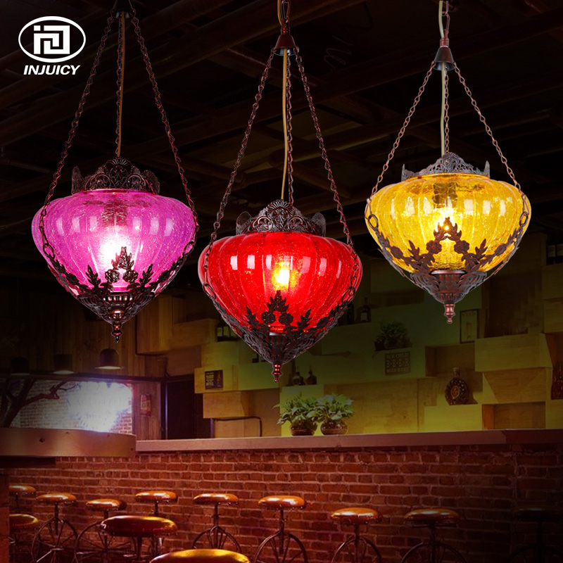 Bohemia Style Mediterranean Pendant Lamp Nordic LED Ceiling Light American Country Retro For Dining Coffee Bar Lighting Fixture