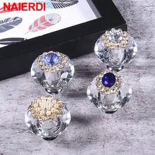 NAIERDI – poignée de meuble en cristal, idéale pour placard, commode, tiroir, cuisine