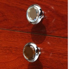 glass drawer watch tv table knobs pulls brown crystal dresser bookcase cupboard door handles knobs silver chrome pulls knobs