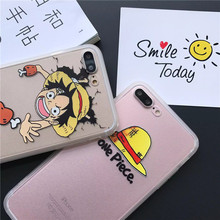 Kawaii One Piece Phone Case for iPhone SE 5 5S 6 6S 7 Plus