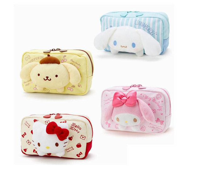 5631306bce Girls Cute Hello Kitty Cartoon My Melody Cosmetic Bags Canvas Travel Pouch  Women Makeup Bags Pencil Case for Lady