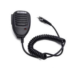BF 888S uv5r 액세서리에 대 한 미니 baofeng 워키 토키 마이크 양방향 라디오 핸드 헬드 마이크 어깨 마이크
