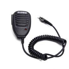 Mikrofon Mini walkie talkie baofeng do BF 888S UV5R akcesoria dwukierunkowy mikrofon radiowy mikrofon ręczny na ramię