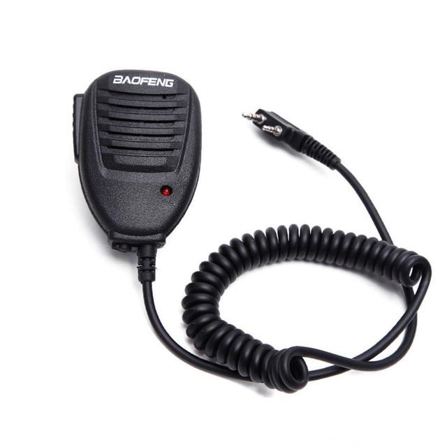 Mini BAOFENG Walkie Talkie Microphone for BF 888S UV5R Accessories Two Way Radio Handheld Microphone Shoulder Microphone