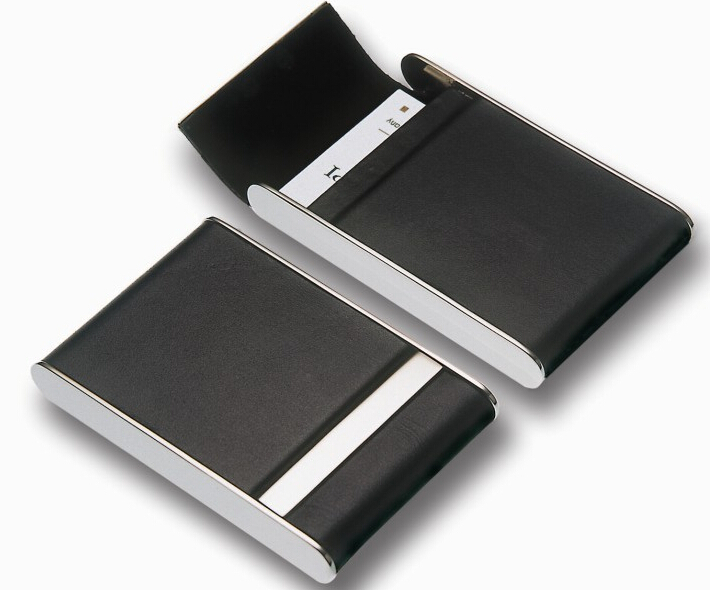 Stainless Steel Silver Name Card Holder Credit Card Brand