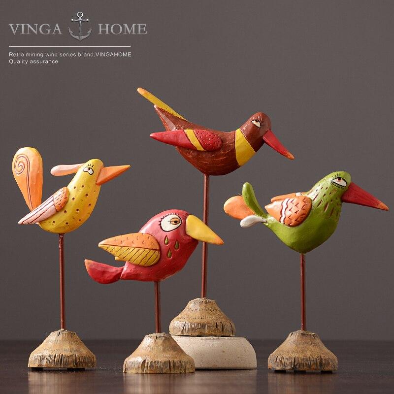 Design Design décoration Style européen artisanat Design maison blanche bureau résine Tieyi oiseau saint valentin cadeau de noël