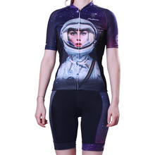 Female Astronaut Pattern Cycling Sets for Women Quick-Dry Short Sleeve Jersey Suits Sets MTB Bike/Bicycle Clothing Ropa Ciclismo