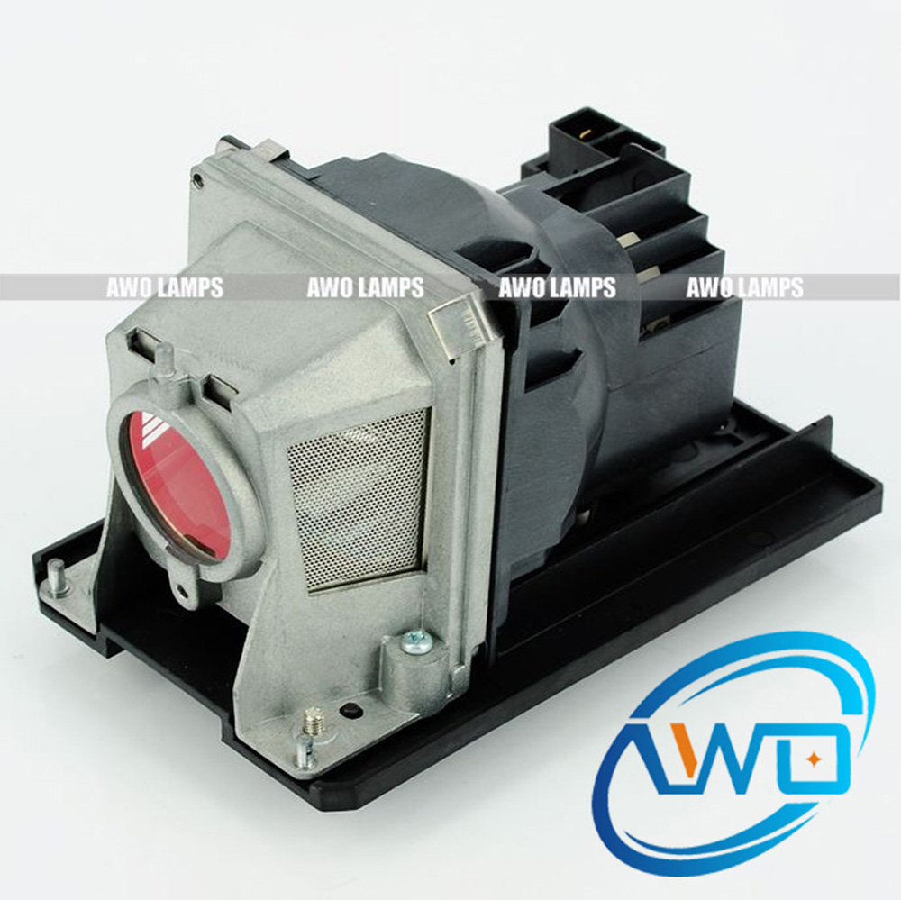 AWO Replacement Projector Lamp NP18LP with Housing for NEC NP-V300W/NP-V300X/V300WG/V300X/V281W+/VE280G free shipping np18lp original projector lamp with module uhp190 160w for ne c np v300w np v300x
