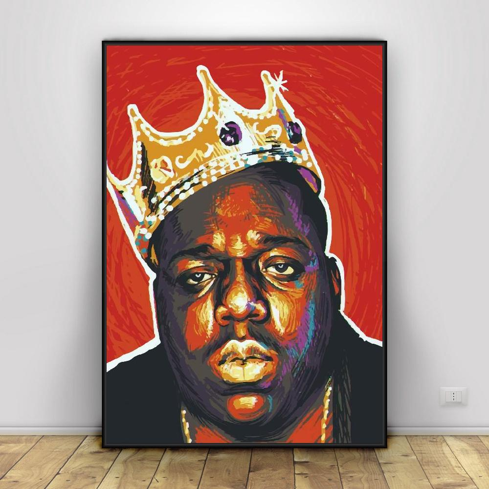 The Notorious Big Biggie Art Canvas Poster Prints Home Wall Decor Painting Painting Calligraphy Aliexpress Du liebst die musik des wortakrobaten notorious big? us 8 5 the notorious big biggie art canvas poster prints home wall decor painting painting calligraphy aliexpress