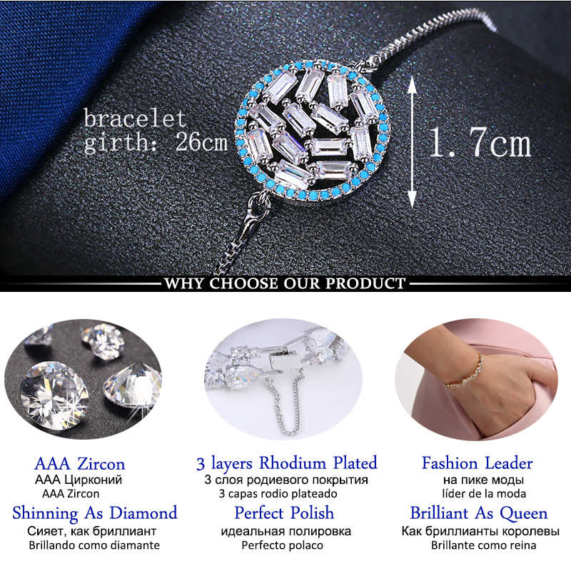 LXOEN 2019 New Design Simple Round Adjustable Bracelets for Women Whitegold Color Crystal Bracelet  Feminine Fashion Jewelry