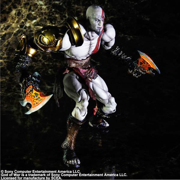 PLAY ARTS 10 GOD of WAR  Kratos PVC Action Figure Collectible Model Toy
