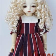 JD073 1/12 1/8 1/6 длинные кудрявые классические BJD парики 3-4 дюйма 5-6 дюймов 6-7 дюймов средняя часть линии синтетический мохер волосы куклы аксессуары