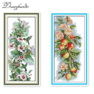 Flowers fruit cross stitch kit count printed 18ct 14ct 11 cotton thread embroidery DIY handmade needlework multi pictures