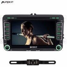 Kürbis 2 Din Android 6.0 Auto DVD Player Quad Core GPS Navigation Autoradio Für VW/Skoda/Polo/Golf DAB + Wifi Bluetooth 3G Radio